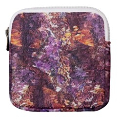 Colorful Rusty Abstract Print Mini Square Pouch