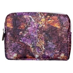 Colorful Rusty Abstract Print Make Up Pouch (medium)