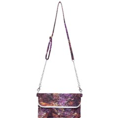Colorful Rusty Abstract Print Mini Crossbody Handbag