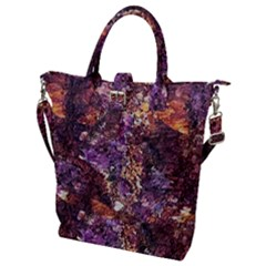 Colorful Rusty Abstract Print Buckle Top Tote Bag