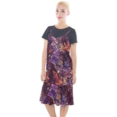 Colorful Rusty Abstract Print Camis Fishtail Dress