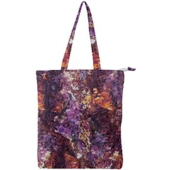 Colorful Rusty Abstract Print Double Zip Up Tote Bag