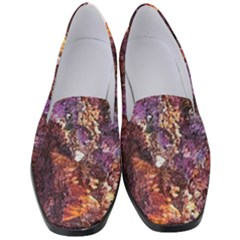 Colorful Rusty Abstract Print Women s Classic Loafer Heels