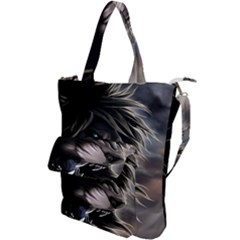 Angry Lion Digital Art Hd Shoulder Tote Bag