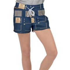 Tardis Poster Women s Velour Lounge Shorts