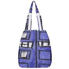 Tardis Painting Center Zip Backpack