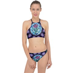 Cathedral Rosette Stained Glass Beauty And The Beast Racer Front Bikini Set