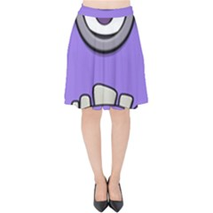 Evil Purple Velvet High Waist Skirt