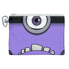 Evil Purple Canvas Cosmetic Bag (xl)