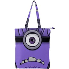 Evil Purple Double Zip Up Tote Bag