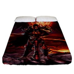 Fantasy Art Fire Heroes Heroes Of Might And Magic Heroes Of Might And Magic Vi Knights Magic Repost Fitted Sheet (king Size) by Sudhe