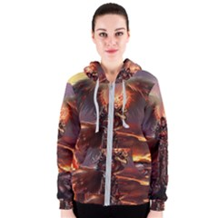 Fantasy Art Fire Heroes Heroes Of Might And Magic Heroes Of Might And Magic Vi Knights Magic Repost Women s Zipper Hoodie