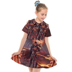 Fantasy Art Fire Heroes Heroes Of Might And Magic Heroes Of Might And Magic Vi Knights Magic Repost Kids  Short Sleeve Shirt Dress