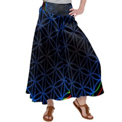 Flower Of Life Satin Palazzo Pants by Sudhe