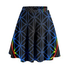 Flower Of Life High Waist Skirt