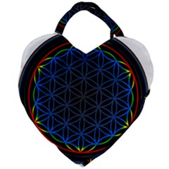 Flower Of Life Giant Heart Shaped Tote