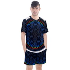 Flower Of Life Men s Mesh Tee And Shorts Set