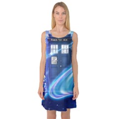 Tardis Space Sleeveless Satin Nightdress