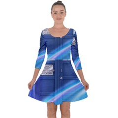 Tardis Space Quarter Sleeve Skater Dress