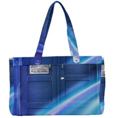 Tardis Space Canvas Work Bag by Sudhe