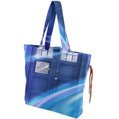 Tardis Space Drawstring Tote Bag