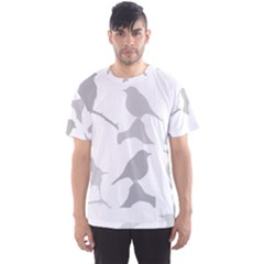 Bird Watching   Greyscale Men s Sports Mesh Tee