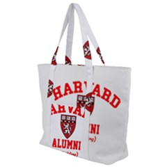 Harvard Alumni Just Kidding Zip Up Canvas Bag