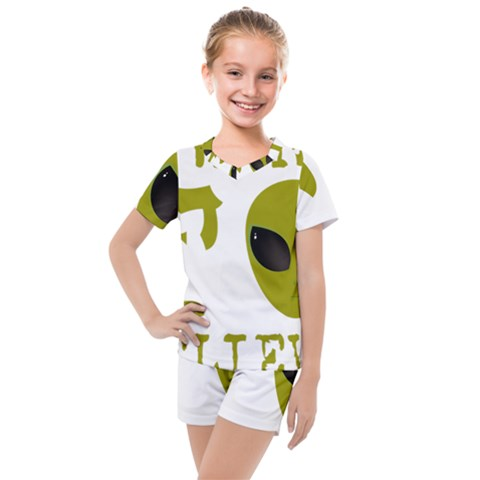 I Want To Believe Kids  Mesh Tee And Shorts Set by Sudhe