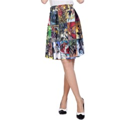 Comic Book Images A-line Skirt by Sudhe