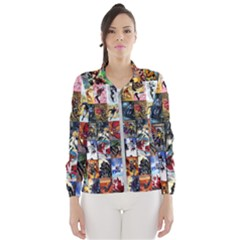 Comic Book Images Windbreaker (women)