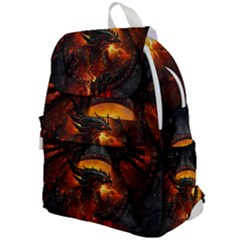 Dragon Legend Art Fire Digital Fantasy Top Flap Backpack