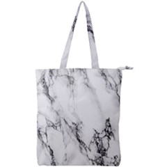 Marble Pattern Double Zip Up Tote Bag
