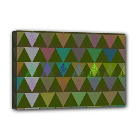 Zappwaits Triangles 2 Deluxe Canvas 18  X 12  (stretched) by zappwaits