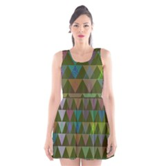 Zappwaits Triangles 2 Scoop Neck Skater Dress