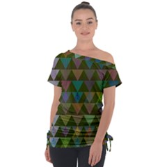 Zappwaits Triangles 2 Tie Up Tee by zappwaits