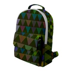 Zappwaits Triangles 2 Flap Pocket Backpack (large) by zappwaits