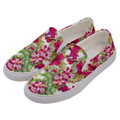 Red Flowers Men s Canvas Slip Ons by goljakoff