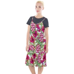 Red Flowers Camis Fishtail Dress