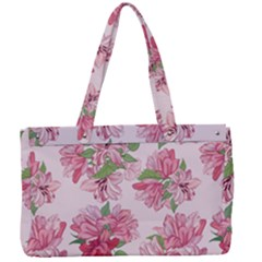 Pink Flowers Canvas Work Bag by goljakoff