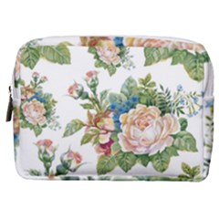 Summer Flowers Pattern Make Up Pouch (medium)