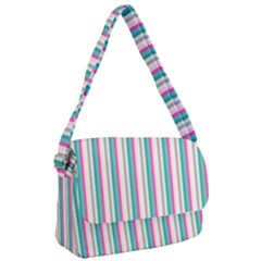 Candy Stripes 1 Courier Bag by retrotoomoderndesigns
