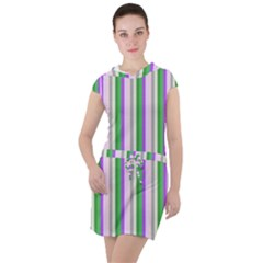 Candy Stripes 2 Drawstring Hooded Dress