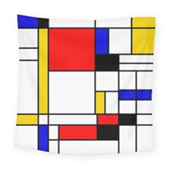 Bauhouse Mondrian Style Square Tapestry (large) by lucia