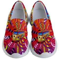 Boho Hippie Bus Kids  Lightweight Slip Ons