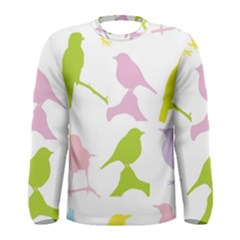 Bird Watching   Colorful Pastel Men s Long Sleeve Tee