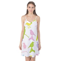 Bird Watching   Colorful Pastel Camis Nightgown