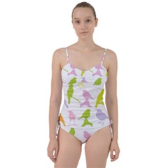 Bird Watching   Colorful Pastel Sweetheart Tankini Set