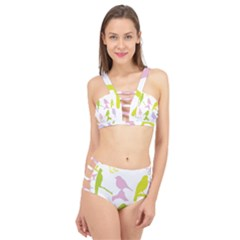 Bird Watching   Colorful Pastel Cage Up Bikini Set