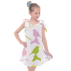 Bird Watching   Colorful Pastel Kids  Tie Up Tunic Dress