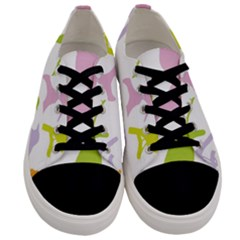 Bird Watching   Colorful Pastel Men s Low Top Canvas Sneakers